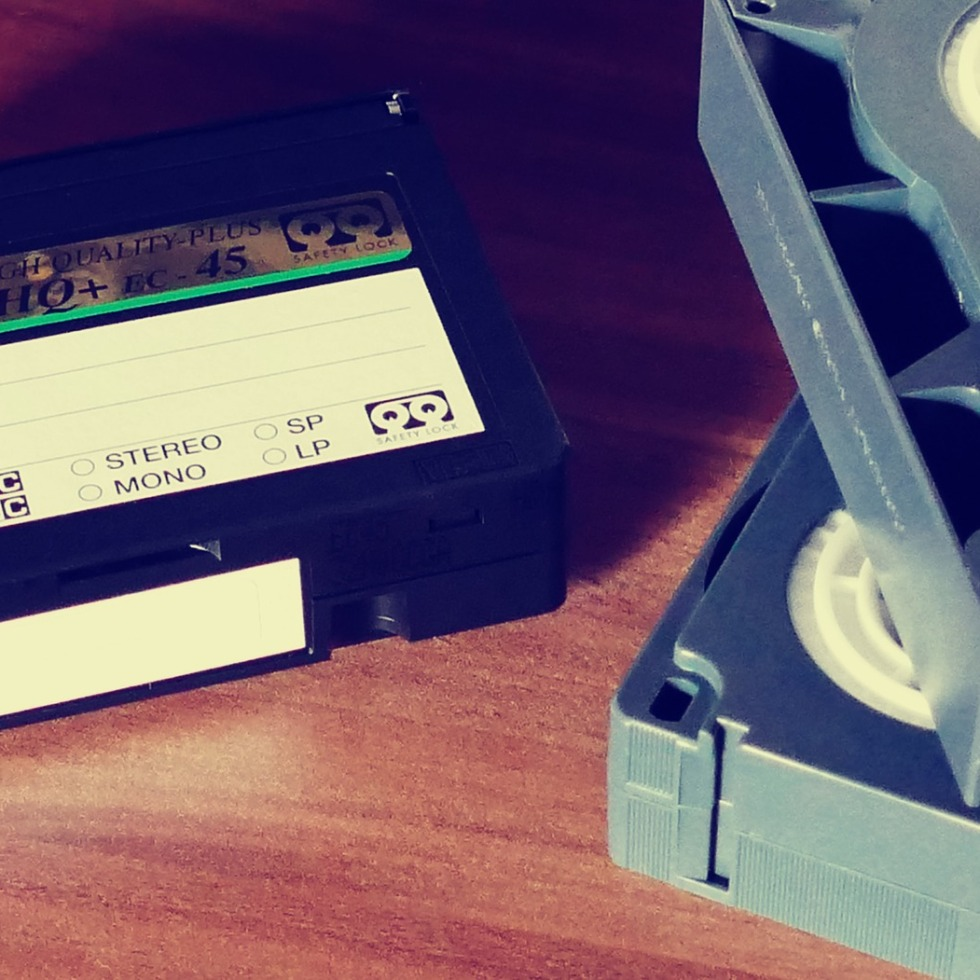 Old fashioned video tapes